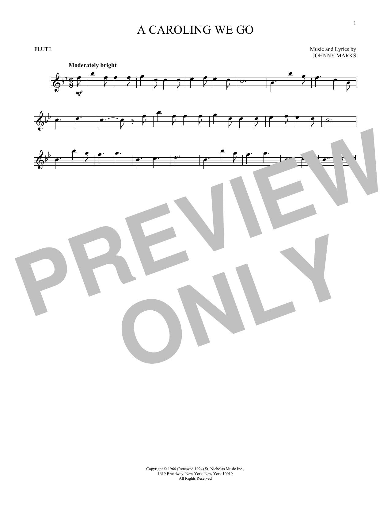 A Caroling We Go (Flute Solo)