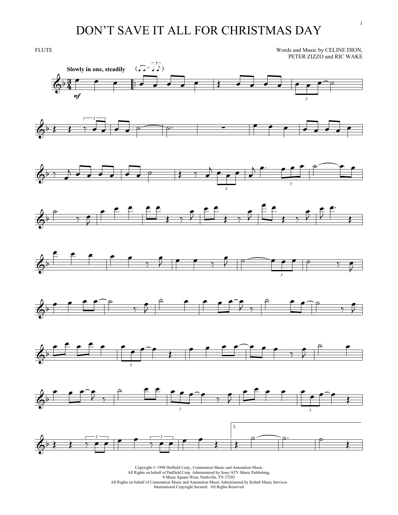 Don't Save It All For Christmas Day (Flute Solo)