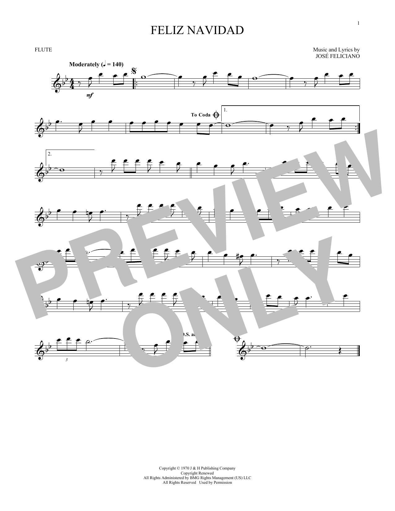 Feliz Navidad (Flute Solo)