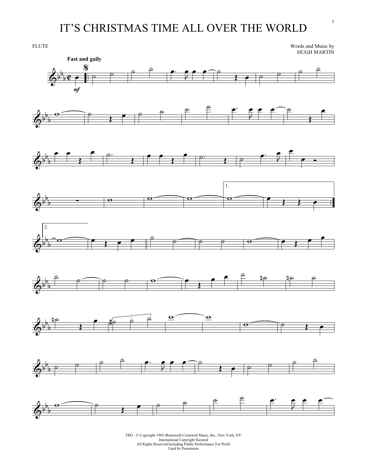 It's Christmas Time All Over The World (Flute Solo)