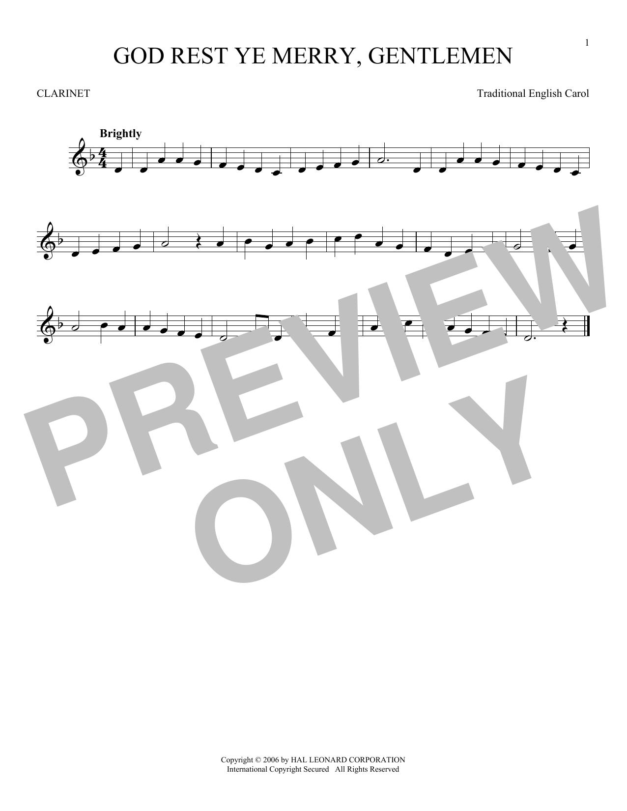 God Rest Ye Merry, Gentlemen (Clarinet Solo)