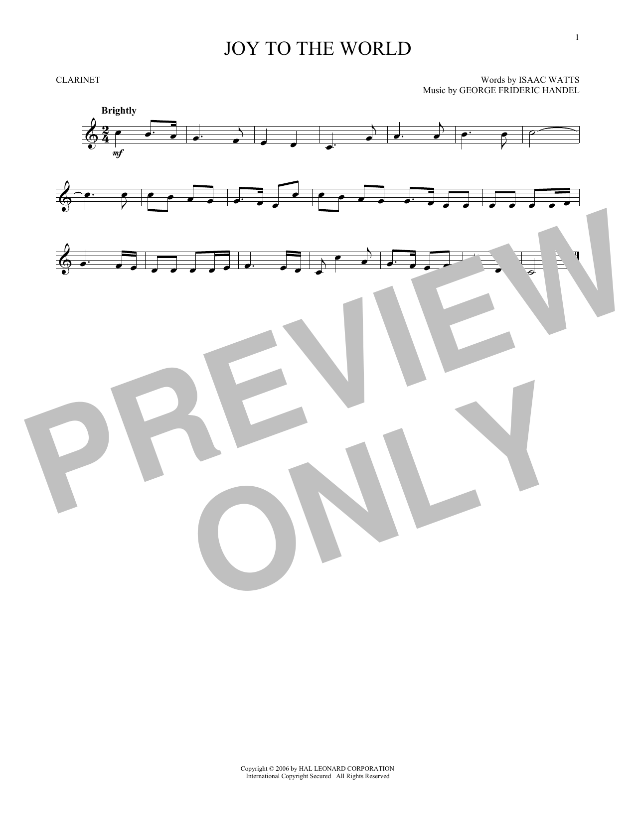 Joy To The World (Clarinet Solo)