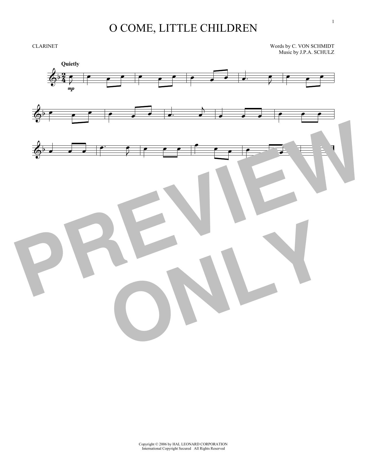 O Come, Little Children (Clarinet Solo)