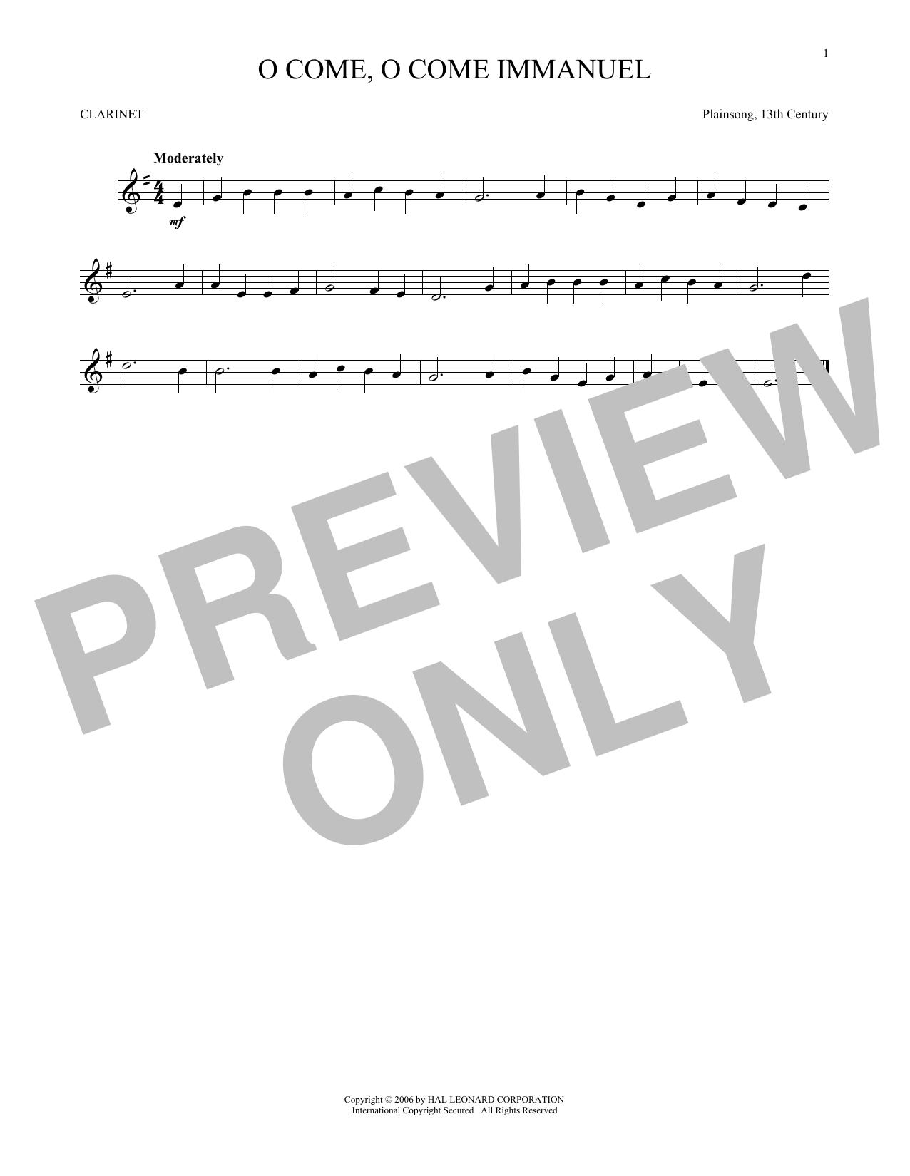 O Come, O Come Immanuel (Clarinet Solo)