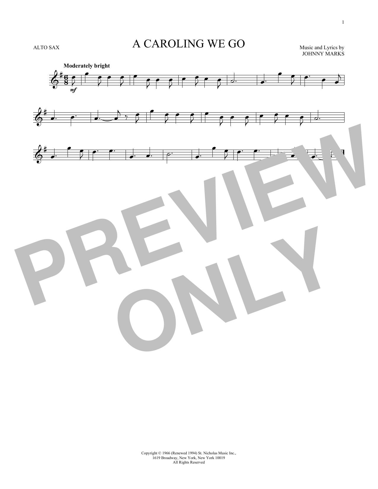 A Caroling We Go (Alto Sax Solo)