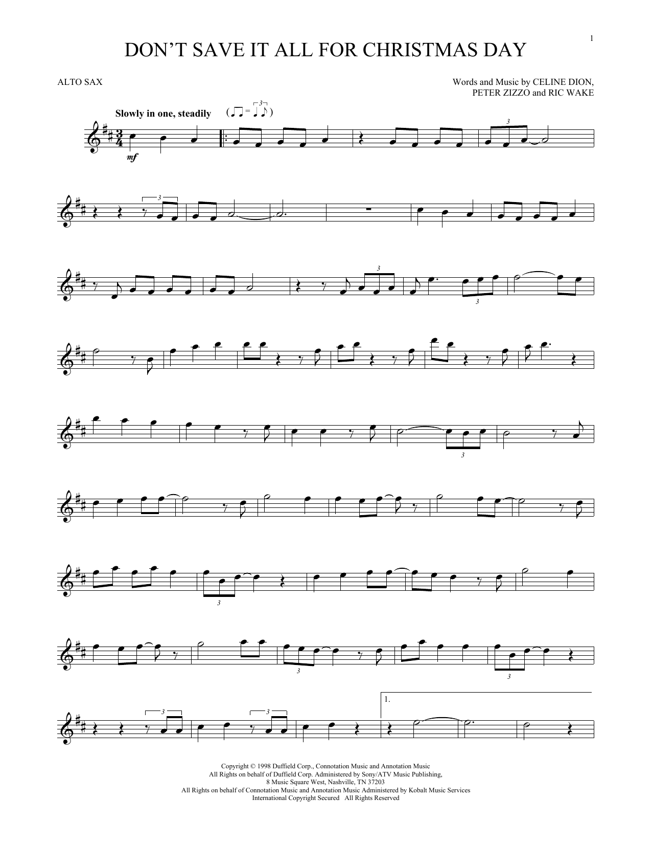 Don't Save It All For Christmas Day (Alto Sax Solo)