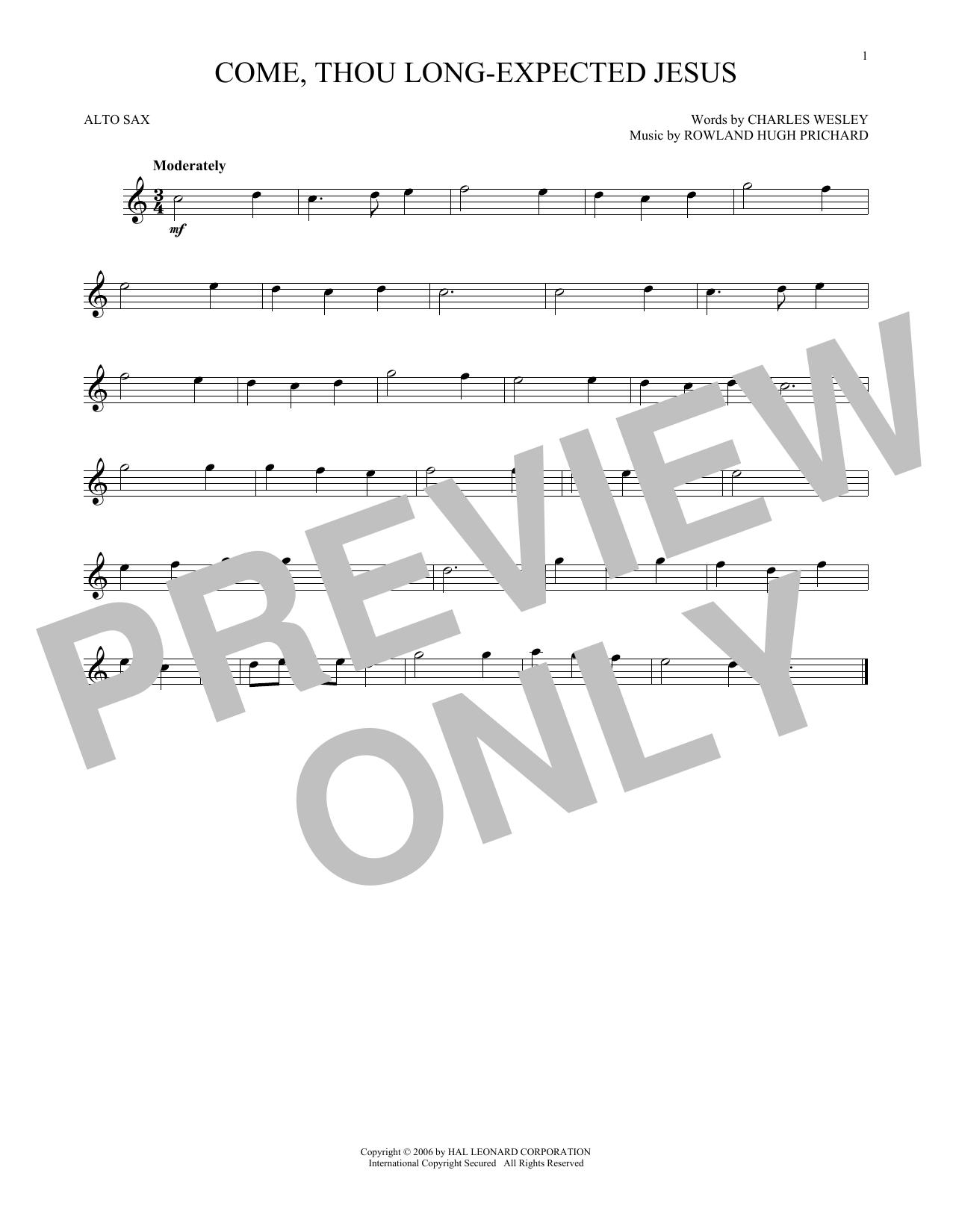 Come, Thou Long-Expected Jesus (Alto Sax Solo)