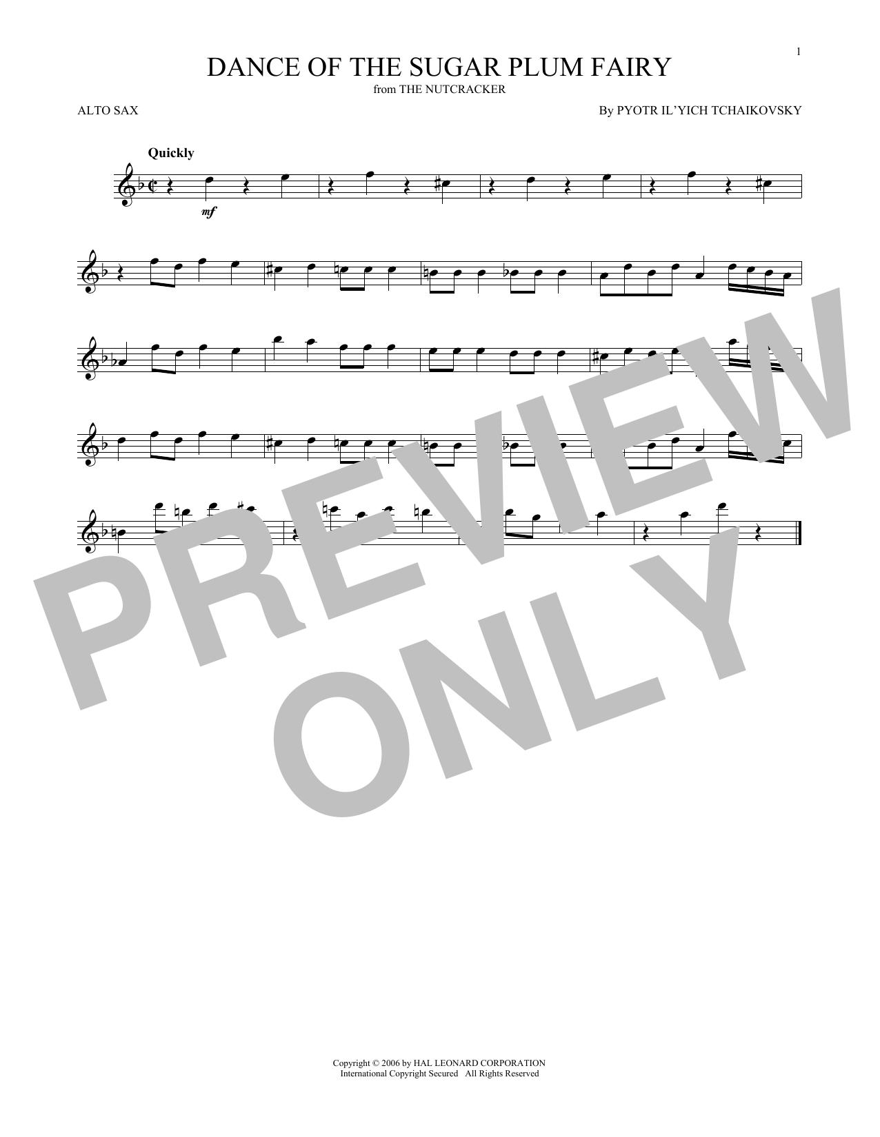 Dance Of The Sugar Plum Fairy, Op. 71a (Alto Sax Solo)