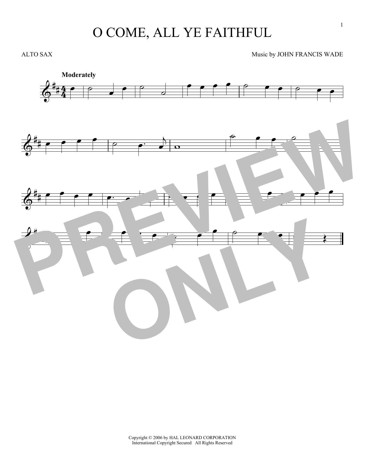O Come, All Ye Faithful (Alto Sax Solo)