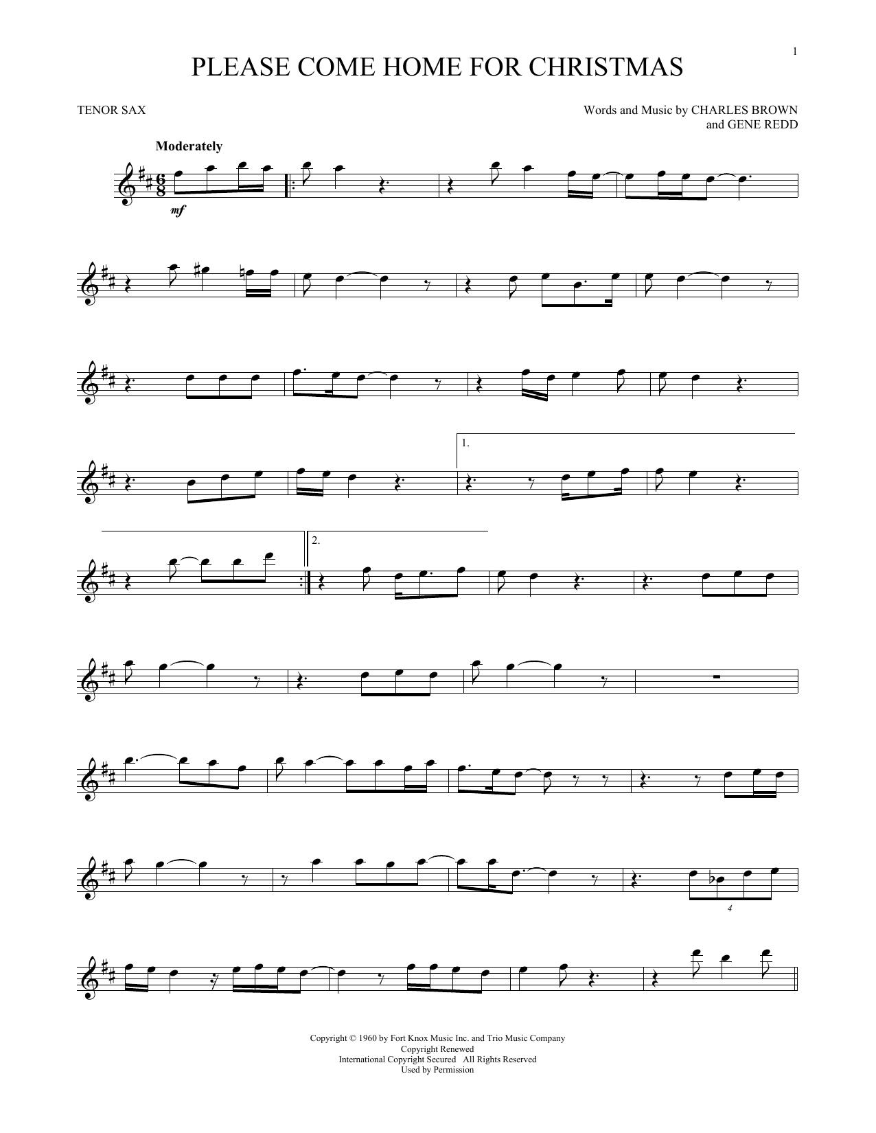 Please Come Home For Christmas (Tenor Sax Solo)