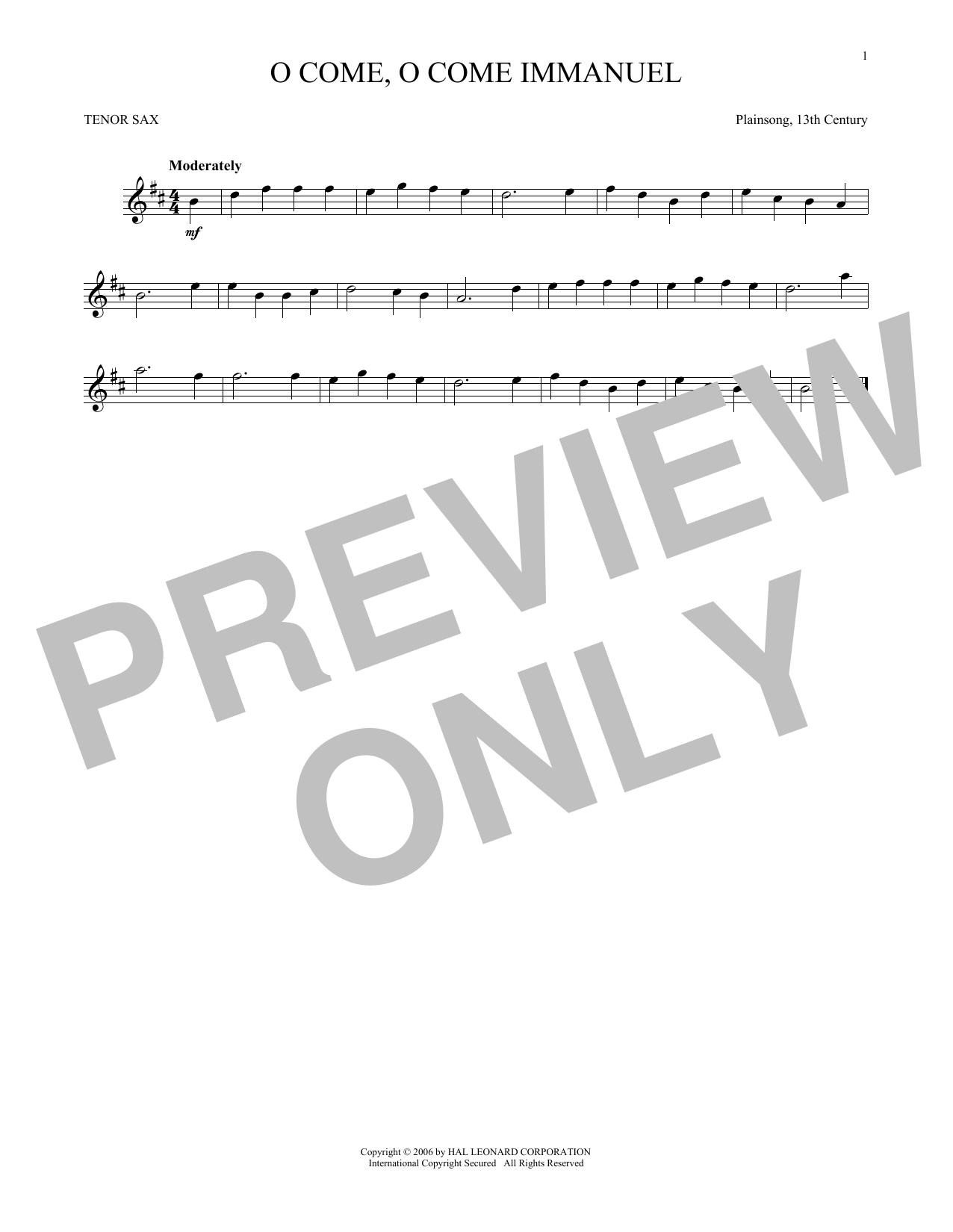 O Come, O Come Immanuel (Tenor Sax Solo)