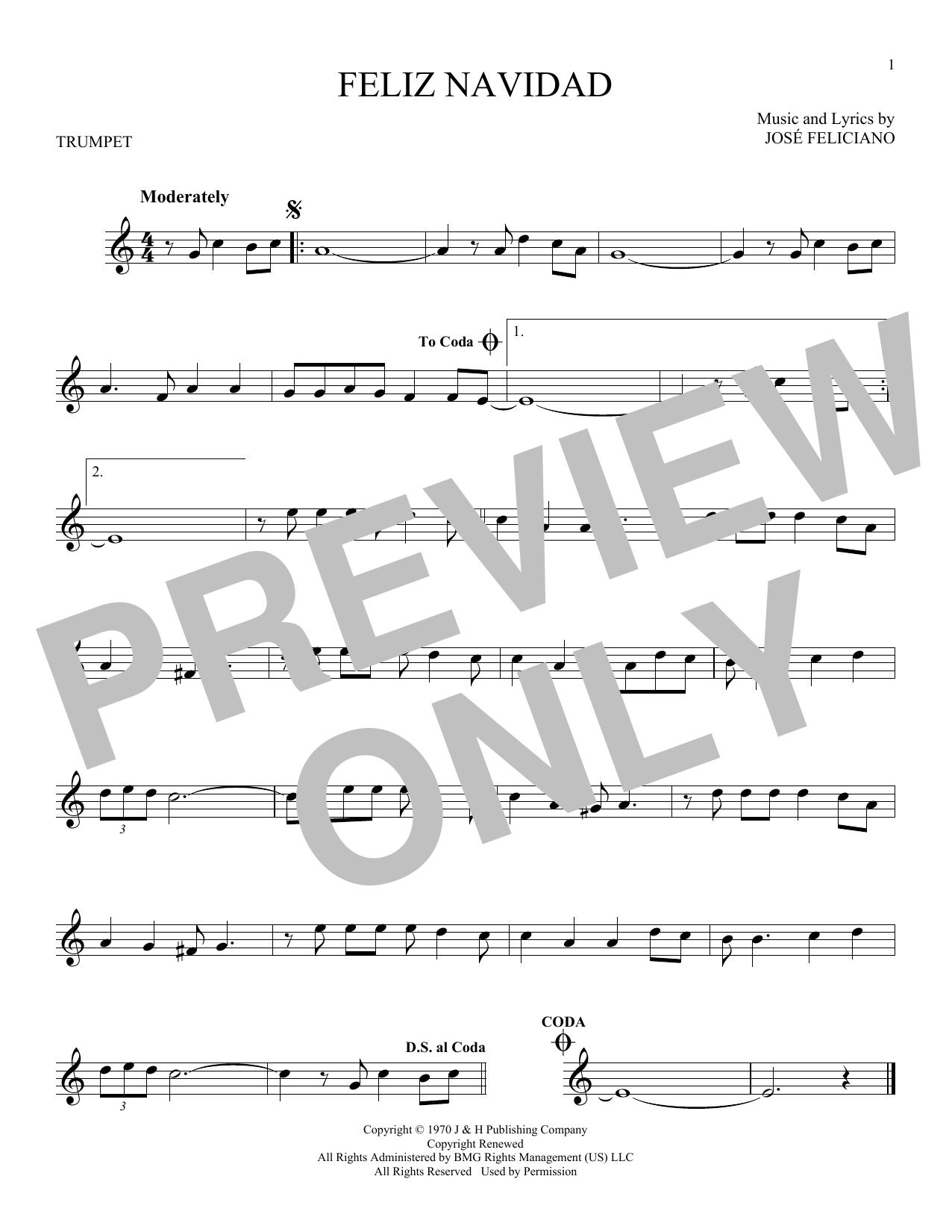 Feliz Navidad (Trumpet Solo)