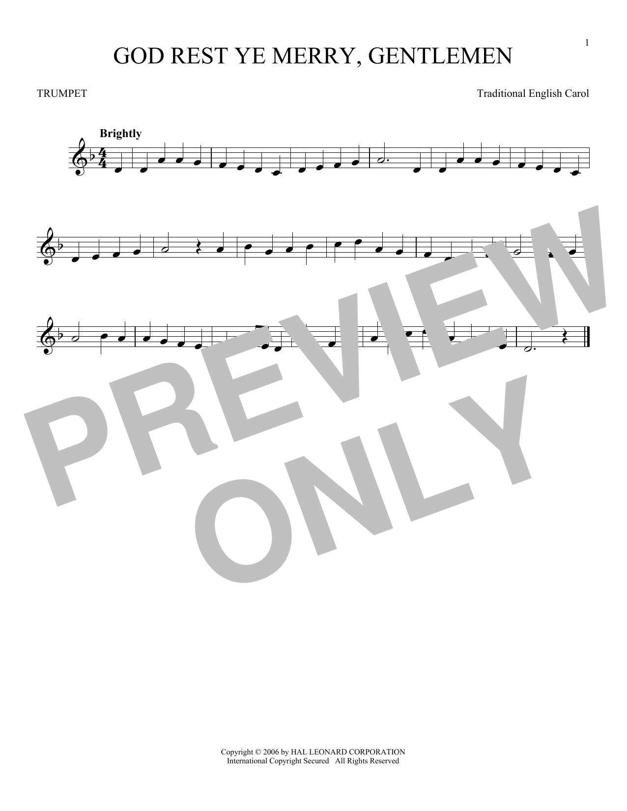 God Rest Ye Merry, Gentlemen (Trumpet Solo)