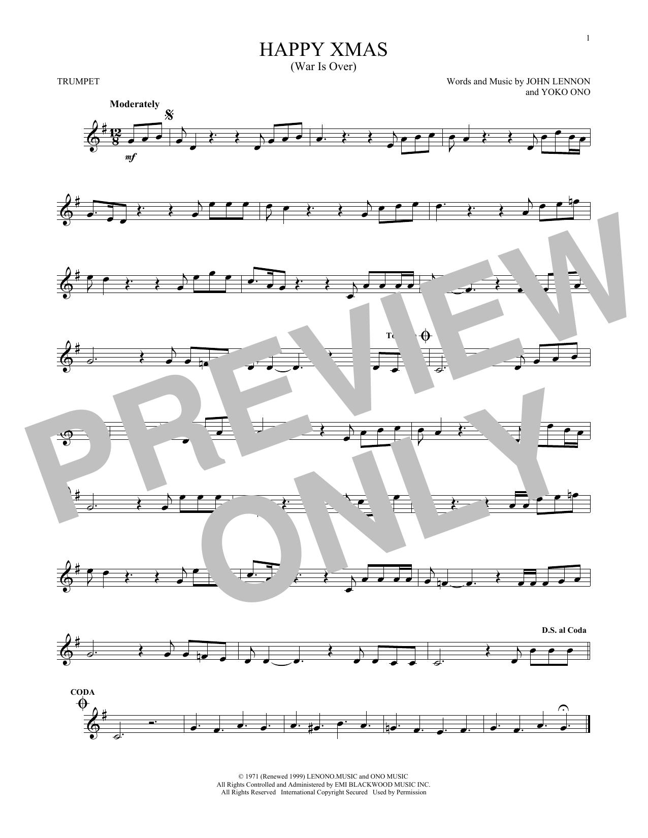 Happy Xmas (War Is Over) (Trumpet Solo)
