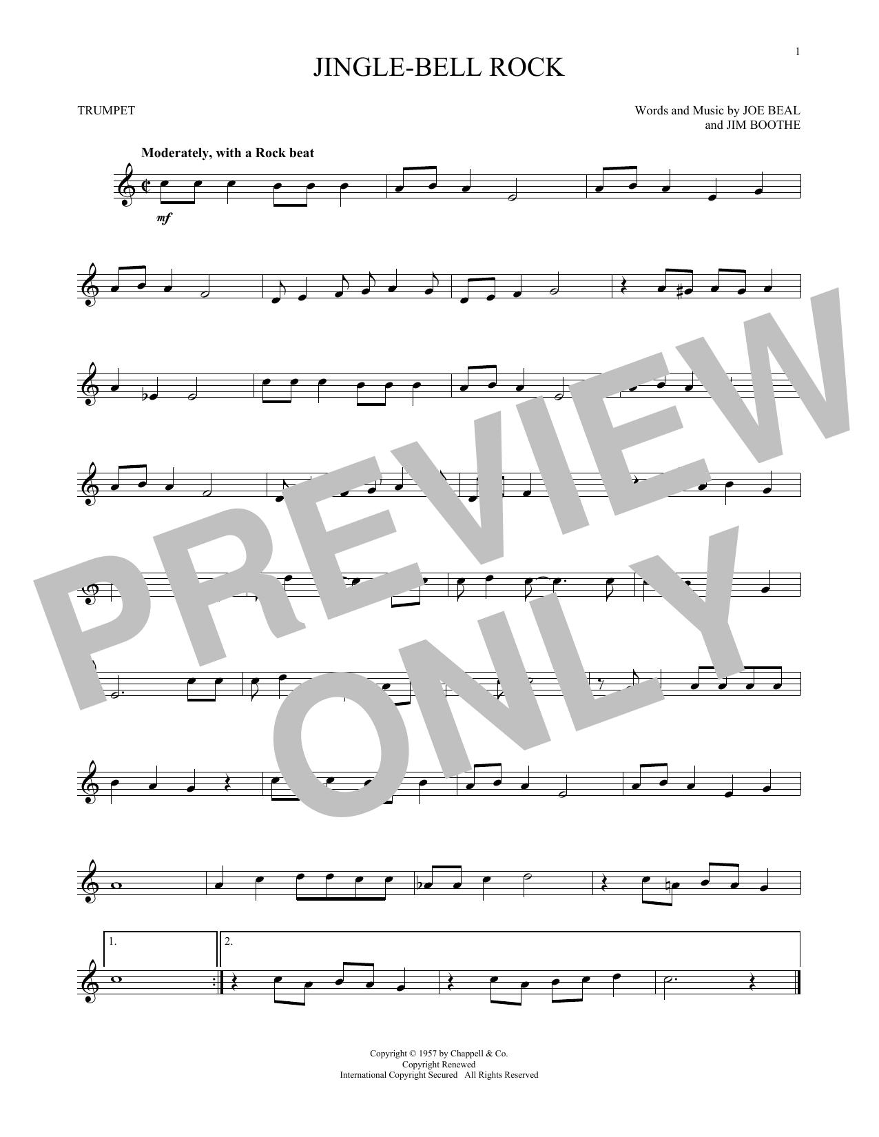 Partition autre Jingle Bell Rock de Bobby Helms - Trompette
