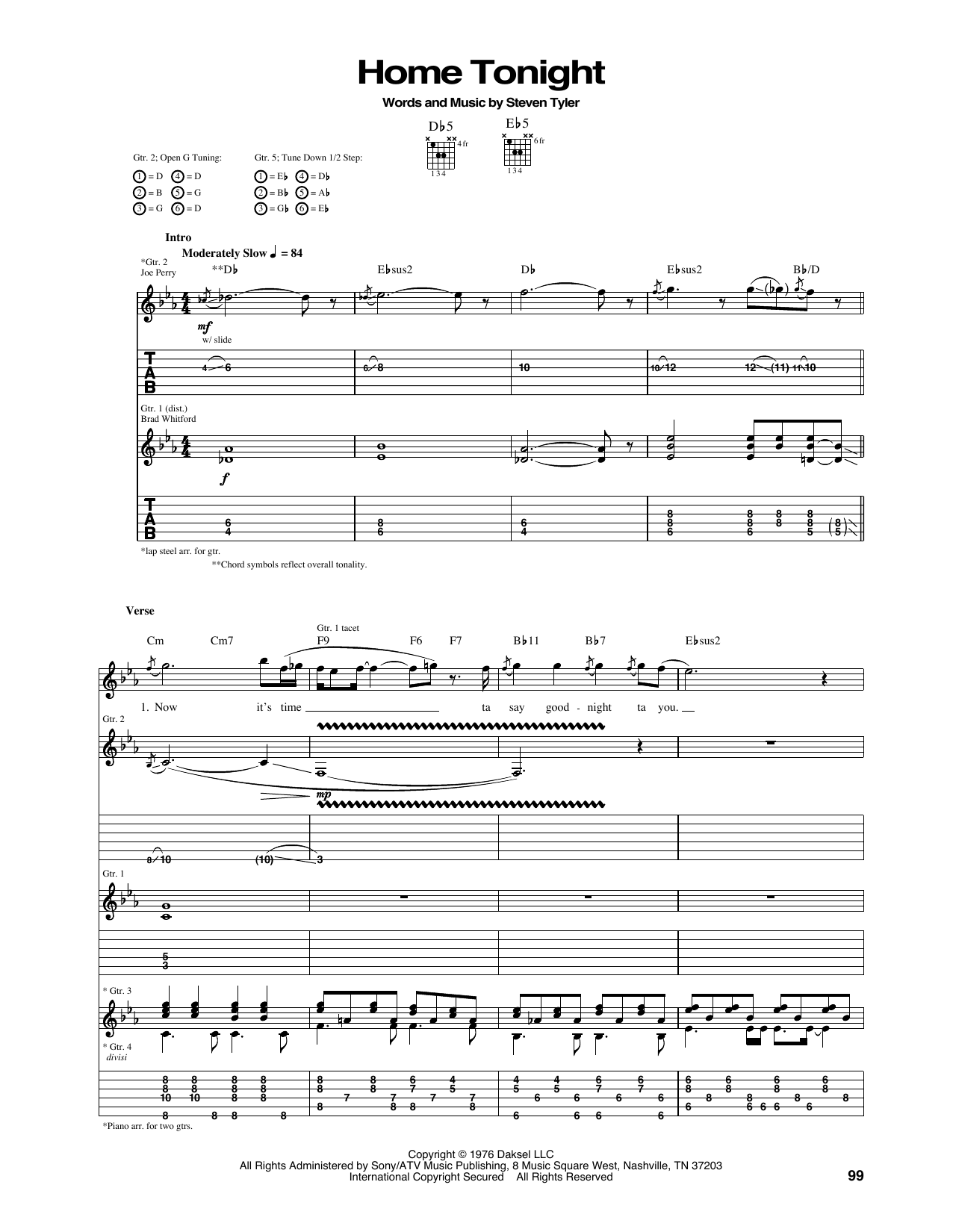 Home Tonight Sheet Music