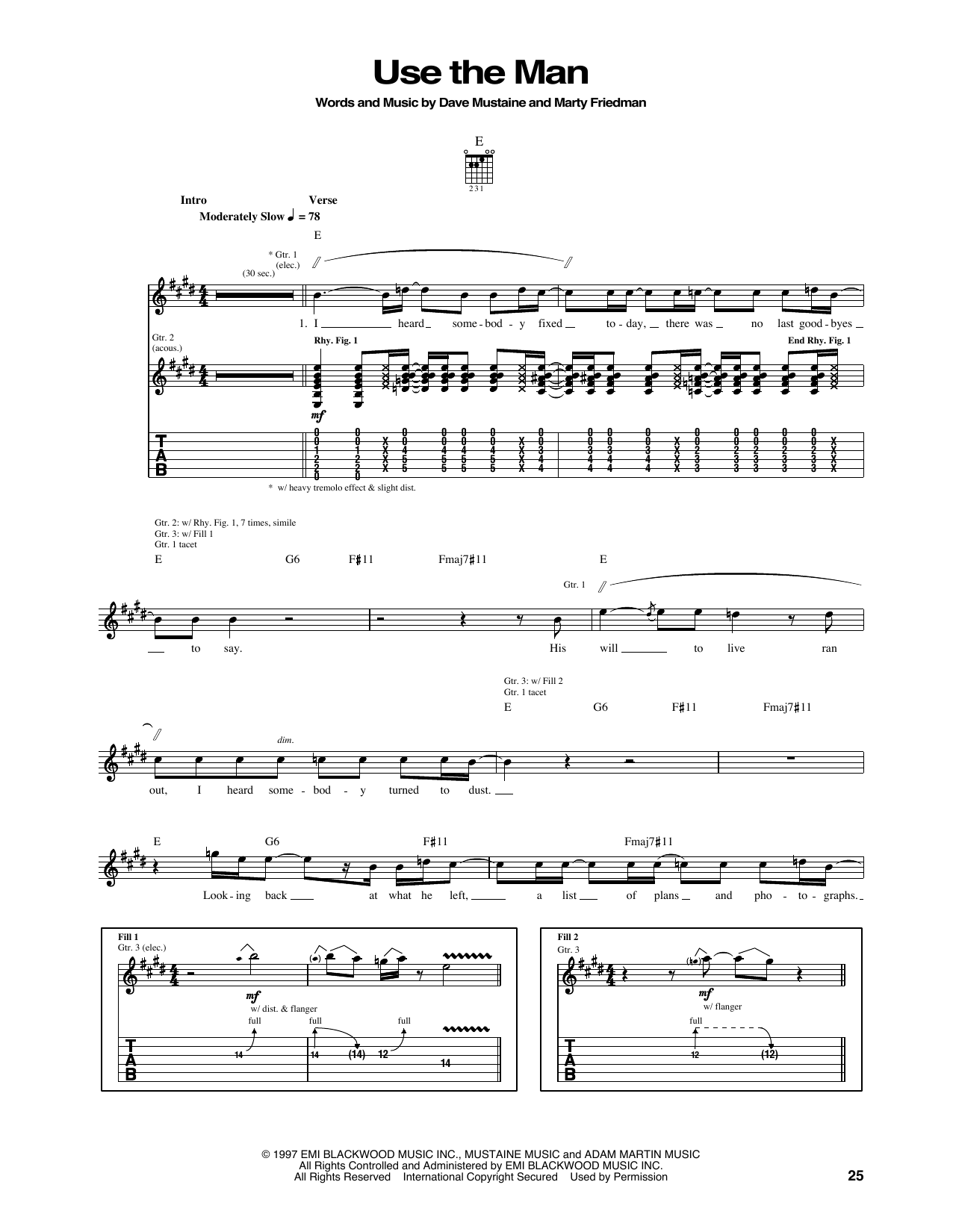 Use The Man Sheet Music