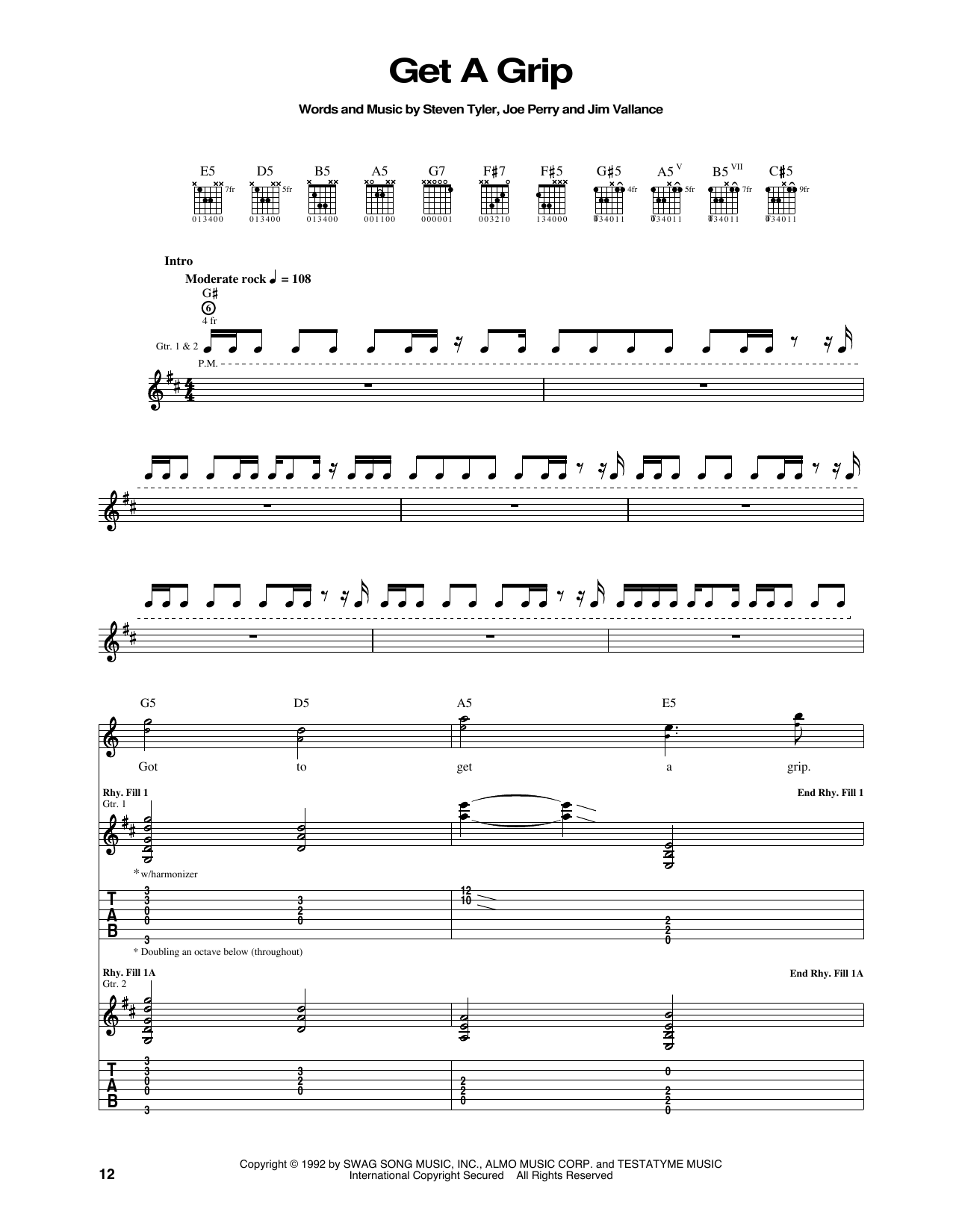 Get A Grip Sheet Music