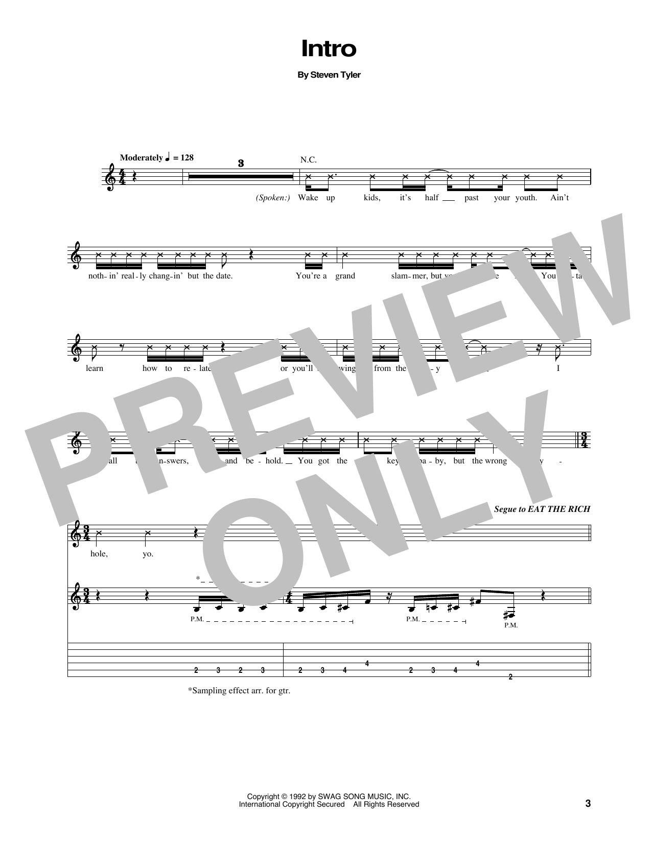 Intro Sheet Music