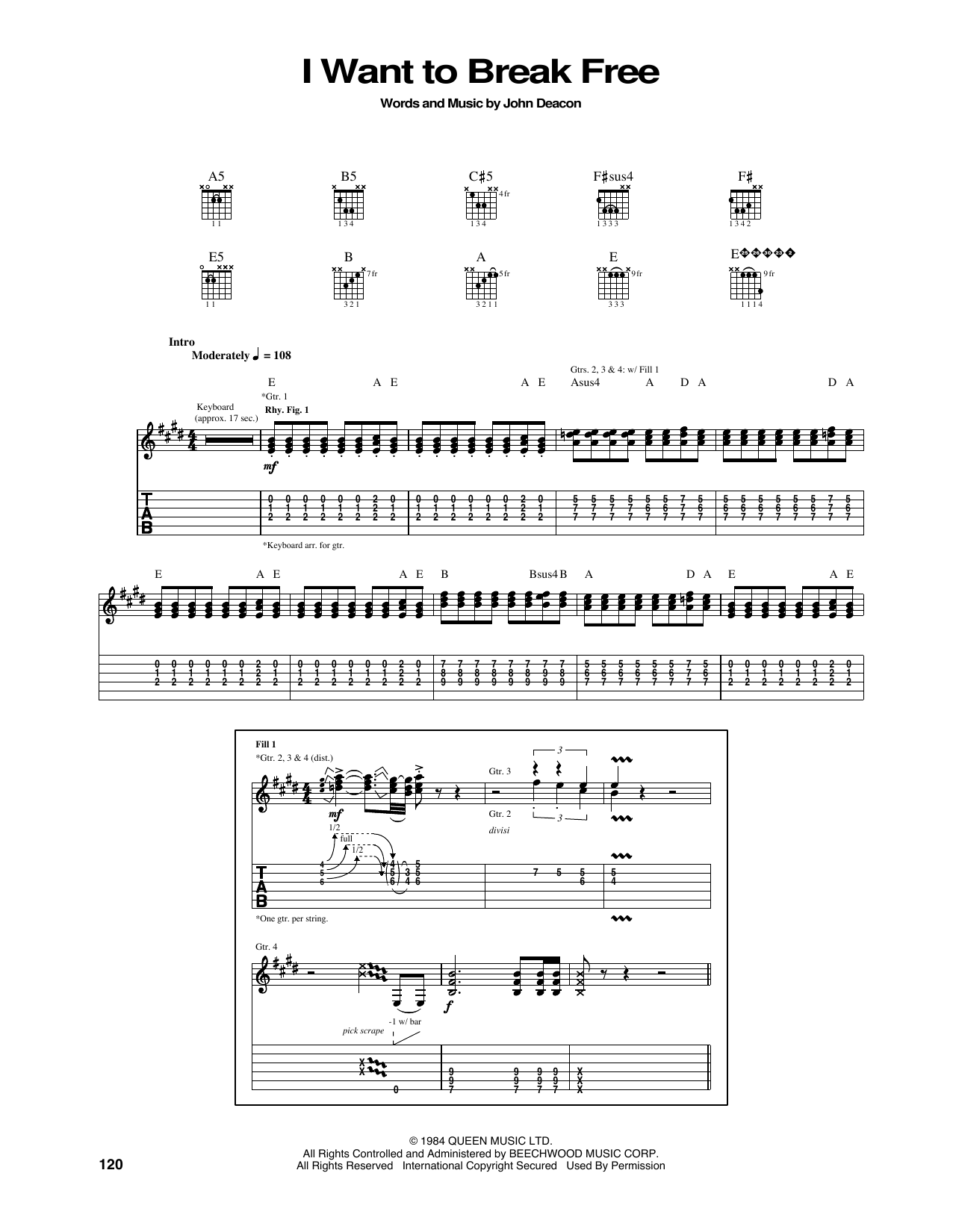 I Want To Break Free Sheet Music