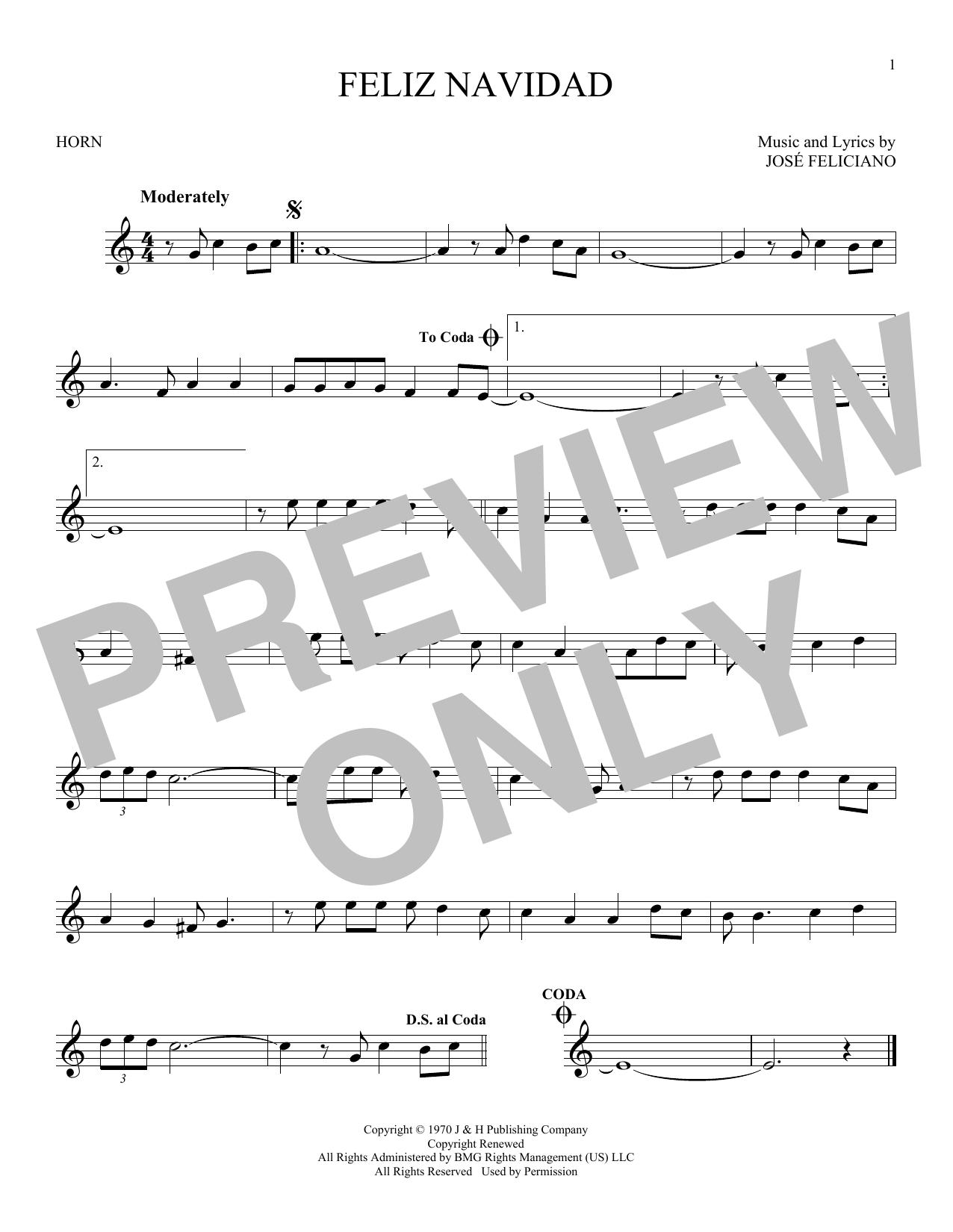 Feliz Navidad (French Horn Solo)