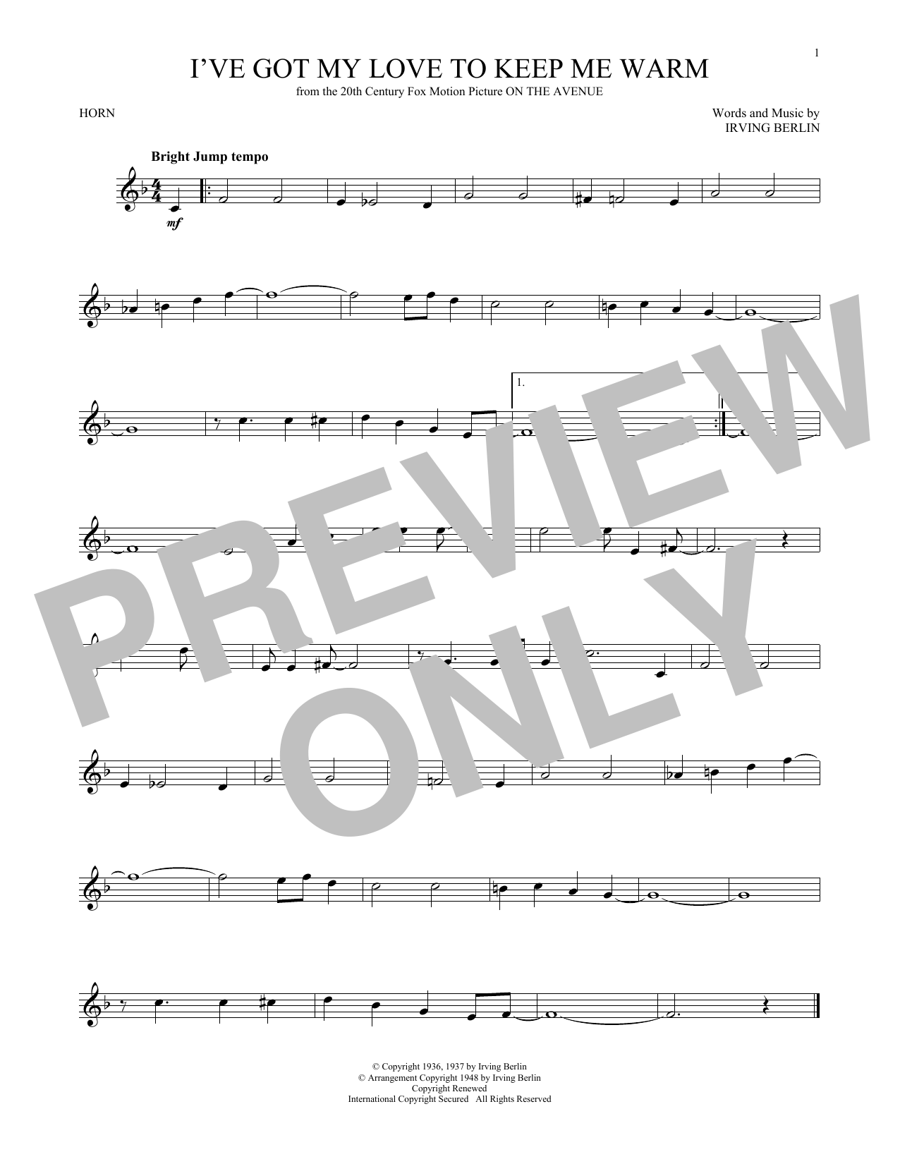 I've Got My Love To Keep Me Warm (French Horn Solo)
