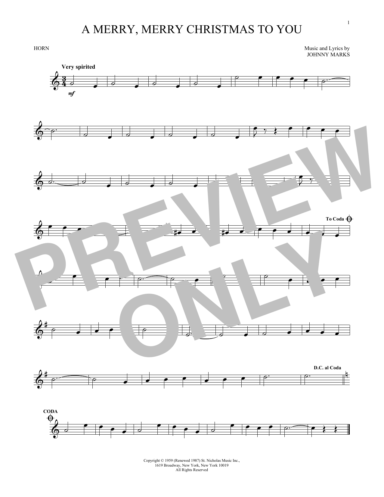 A Merry, Merry Christmas To You (French Horn Solo)