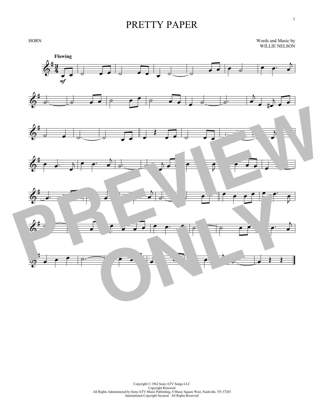Pretty Paper (French Horn)