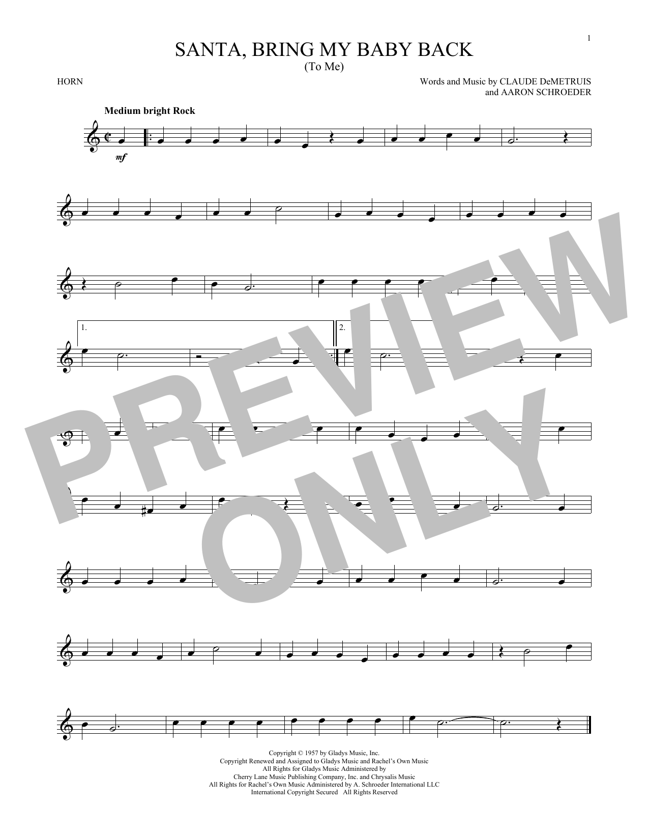 Santa, Bring My Baby Back (To Me) (French Horn Solo)