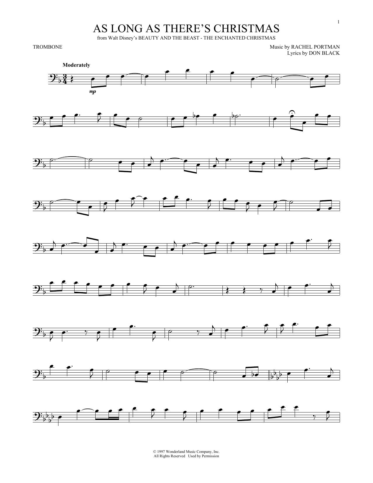 Christmas Music - Trombone at Stanton\'s Sheet Music