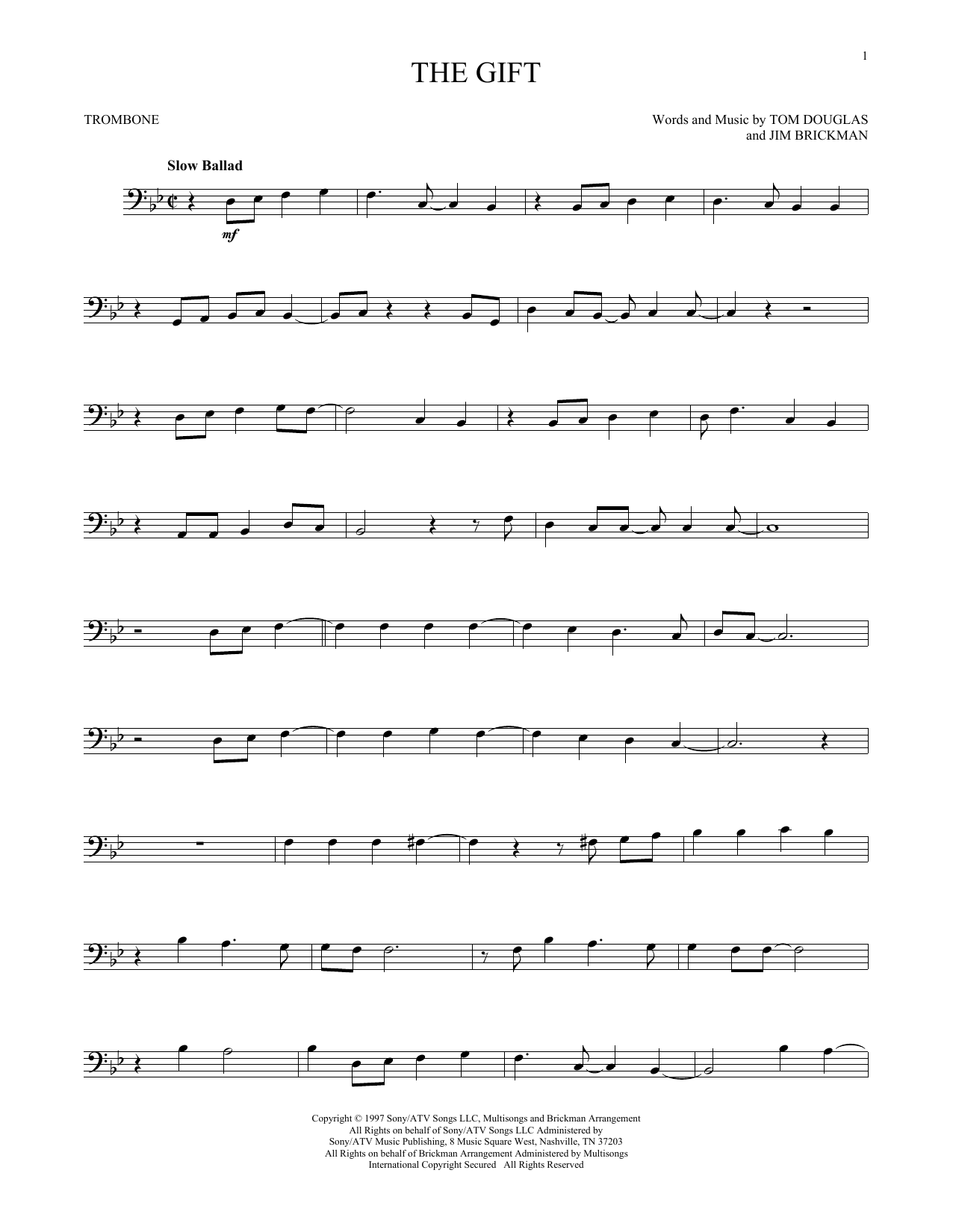 The Gift (Trombone Solo)