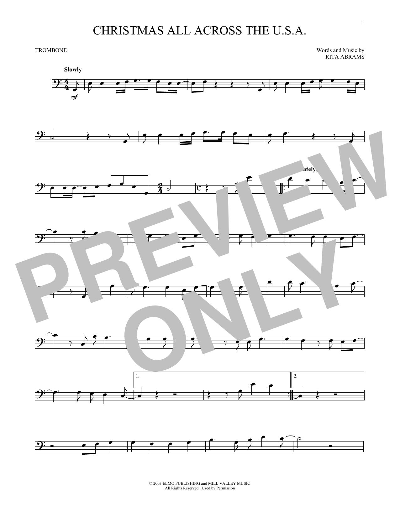 Christmas All Across The U.S.A. (Trombone Solo)