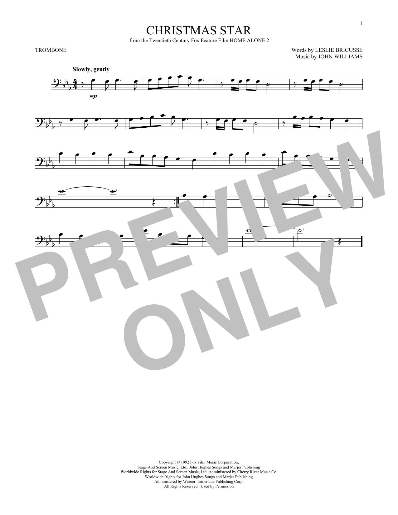Partition autre Christmas Star de John Williams - Trombone
