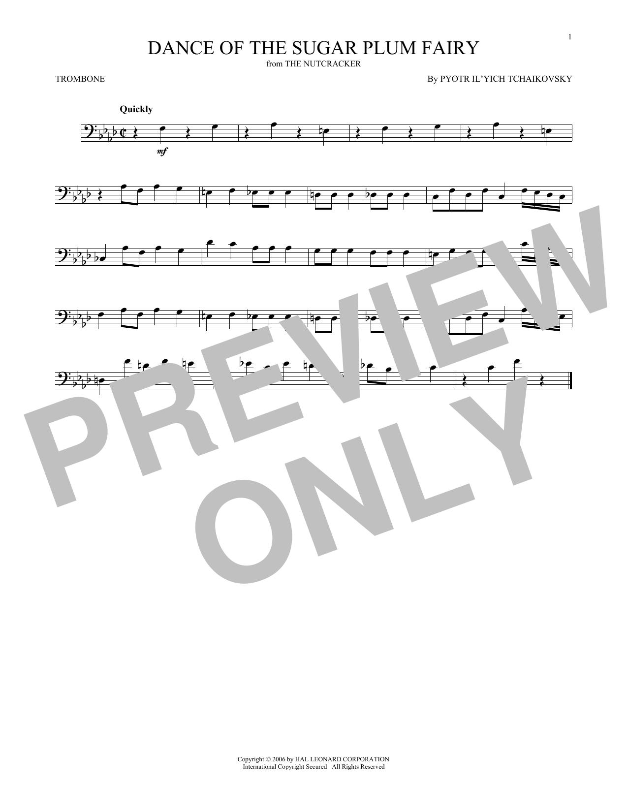 Dance Of The Sugar Plum Fairy, Op. 71a (Trombone Solo)