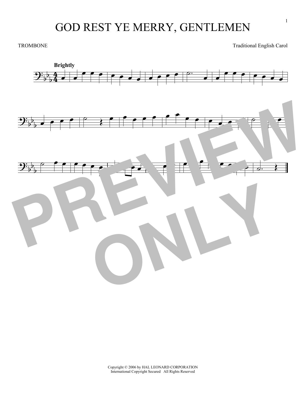 God Rest Ye Merry, Gentlemen (Trombone Solo)