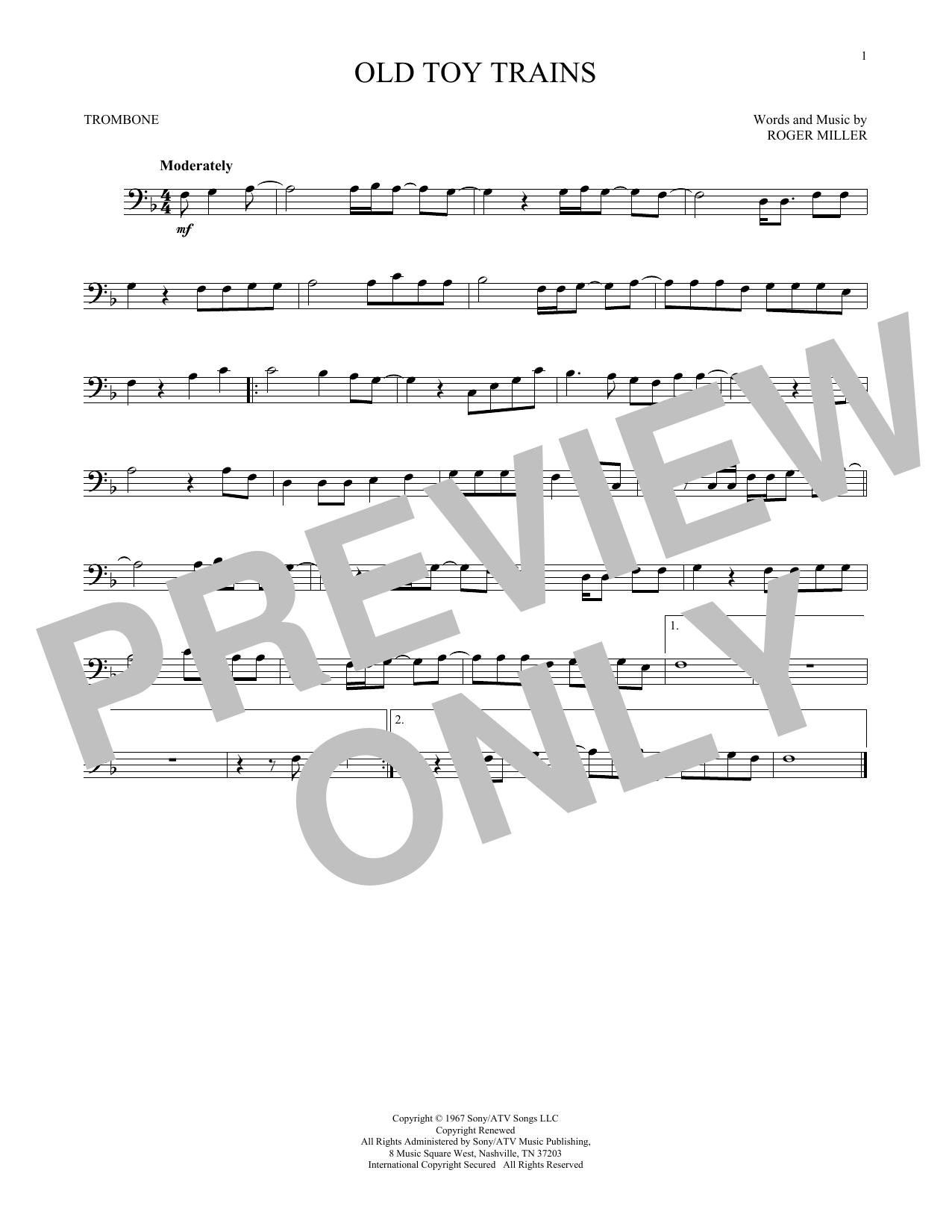 Partition autre Old Toy Trains de Roger Miller - Trombone