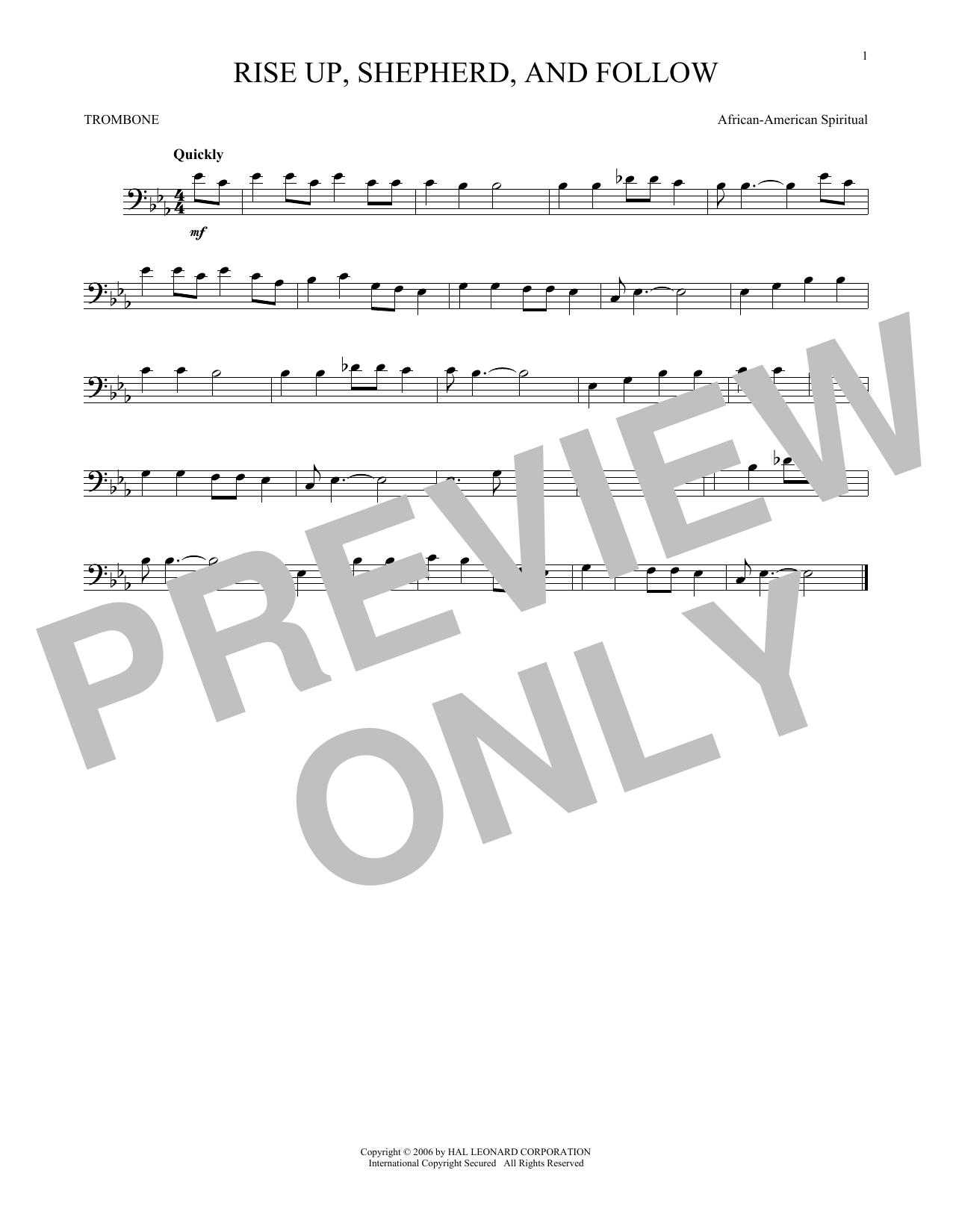 Rise Up, Shepherd, And Follow (Trombone Solo)