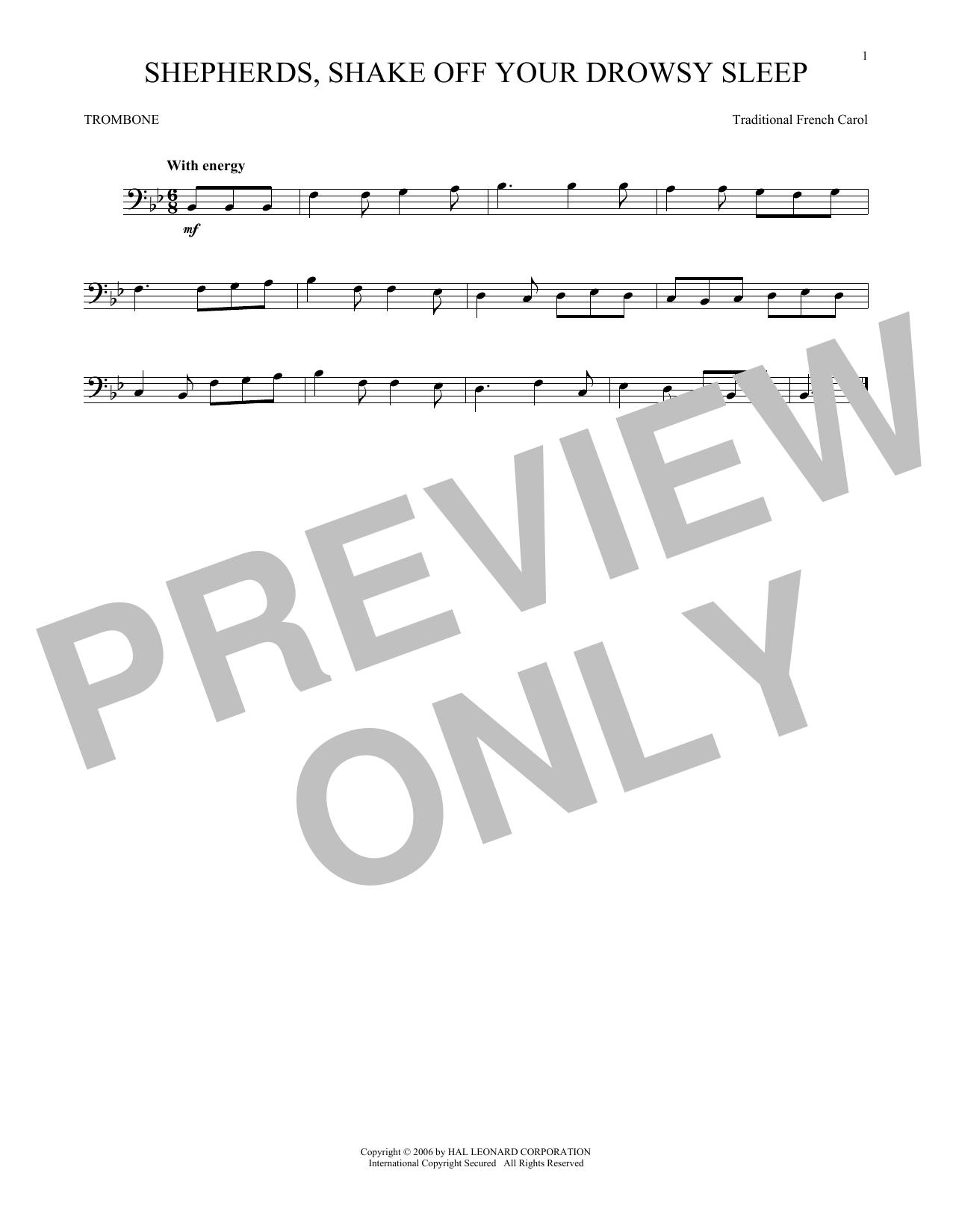 Shepherds, Shake Off Your Drowsy Sleep (Trombone Solo)