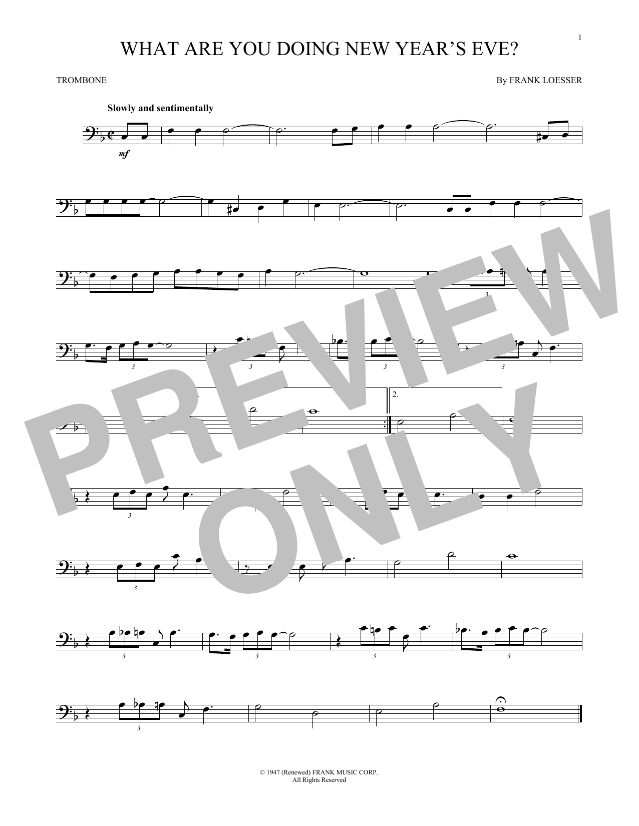 What Are You Doing New Year's Eve? (Trombone Solo)