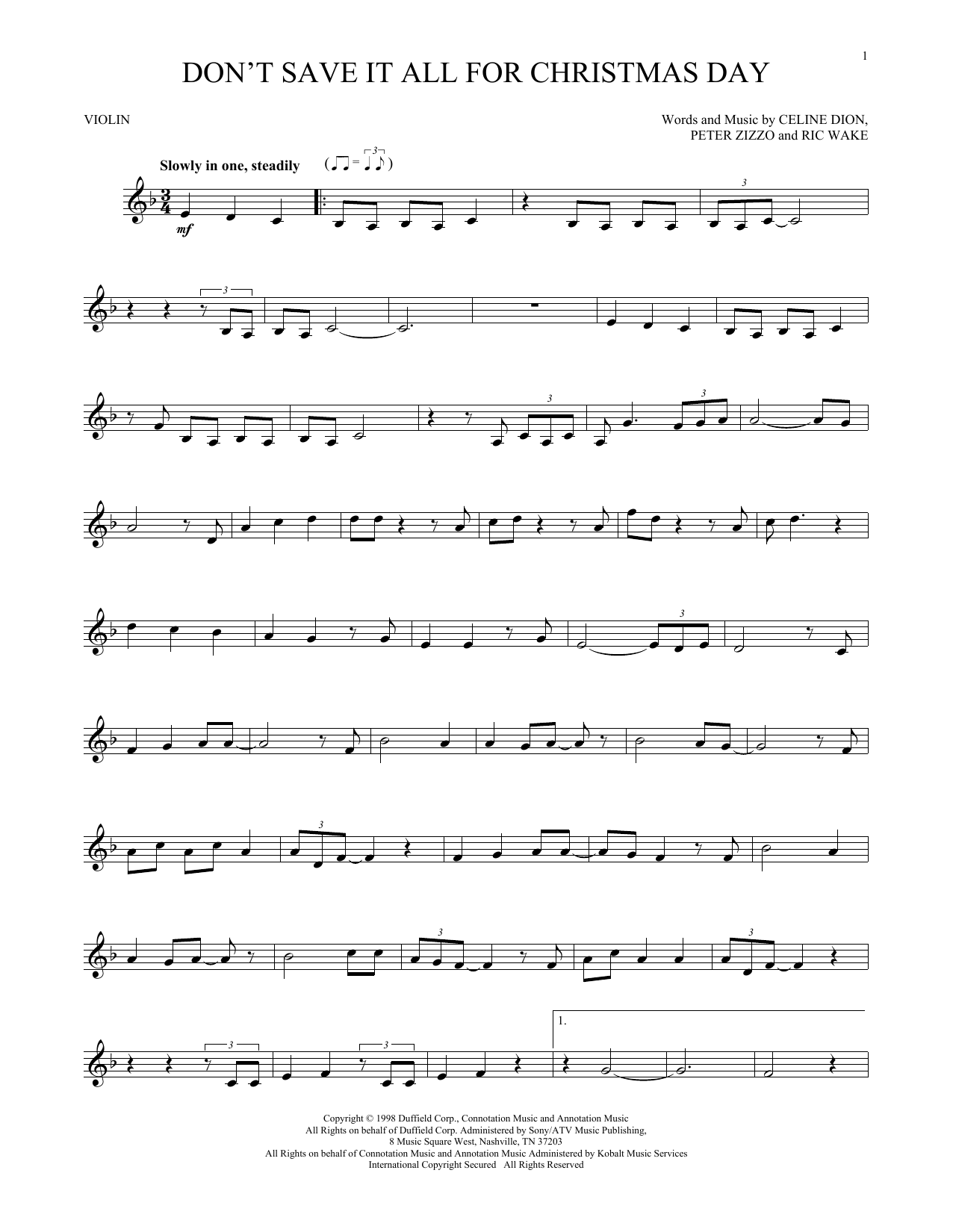 Don't Save It All For Christmas Day (Violin Solo)
