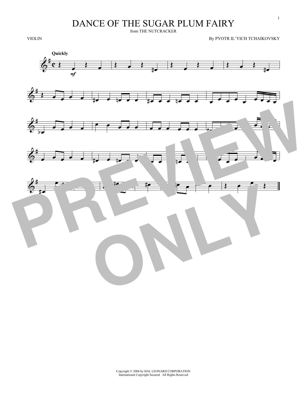 Dance Of The Sugar Plum Fairy, Op. 71a Sheet Music