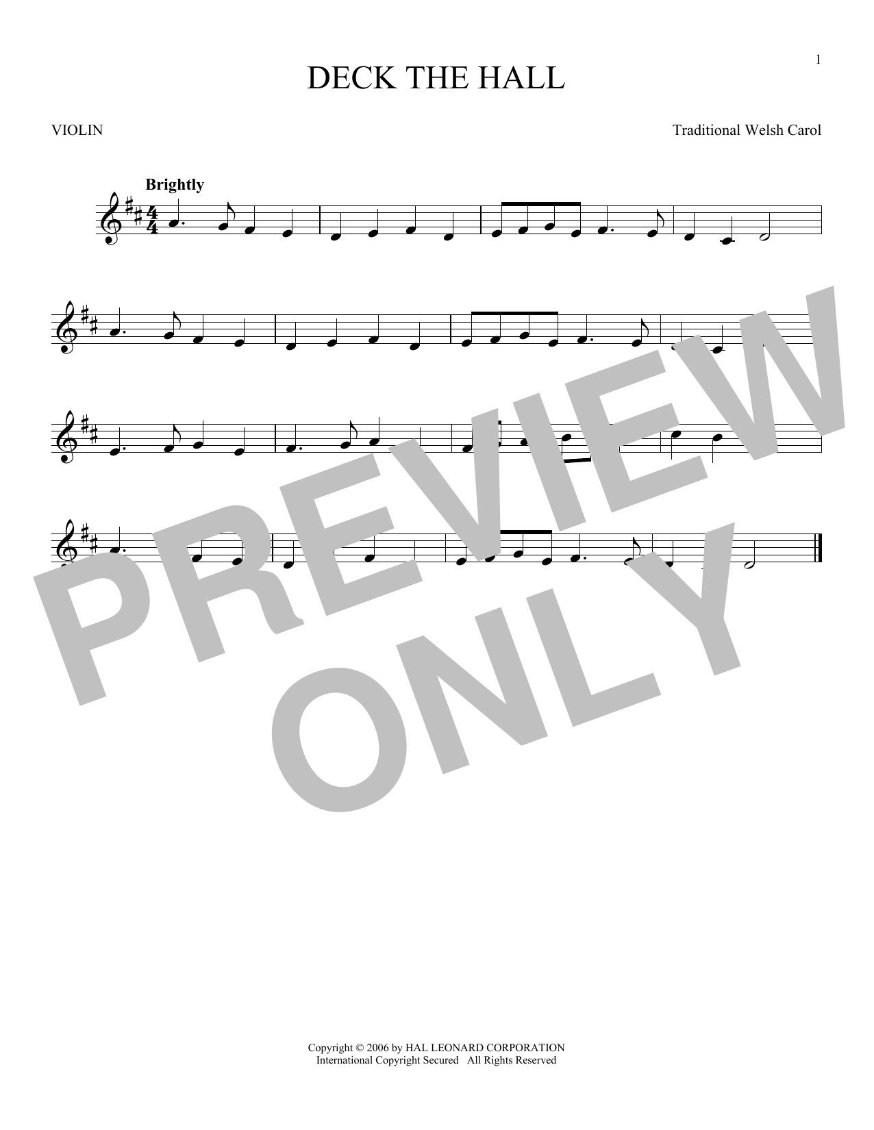 Deck The Hall Sheet Music