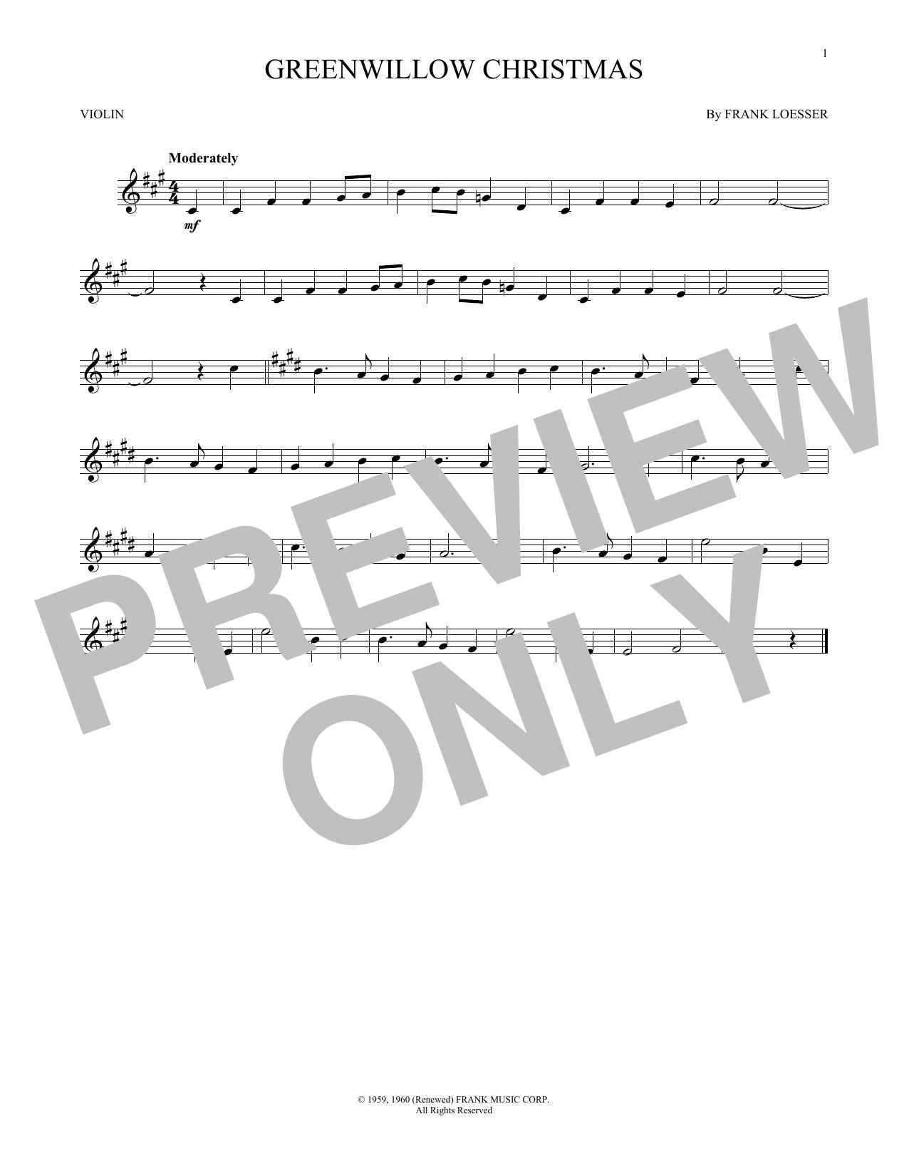 Greenwillow Christmas (Violin Solo)