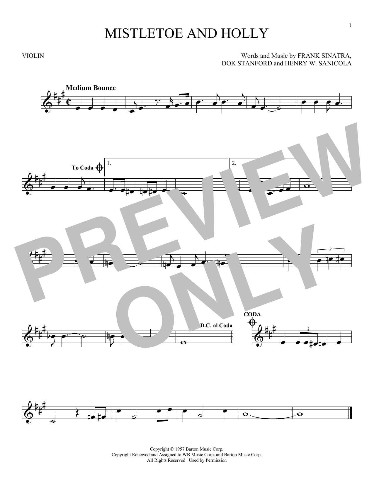 Mistletoe And Holly Sheet Music