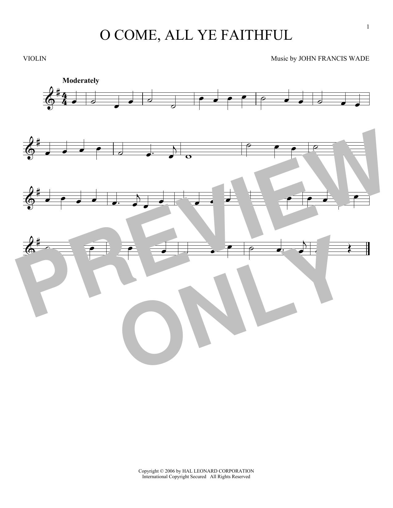 O Come All Ye Faithful Print Sheet Music Now