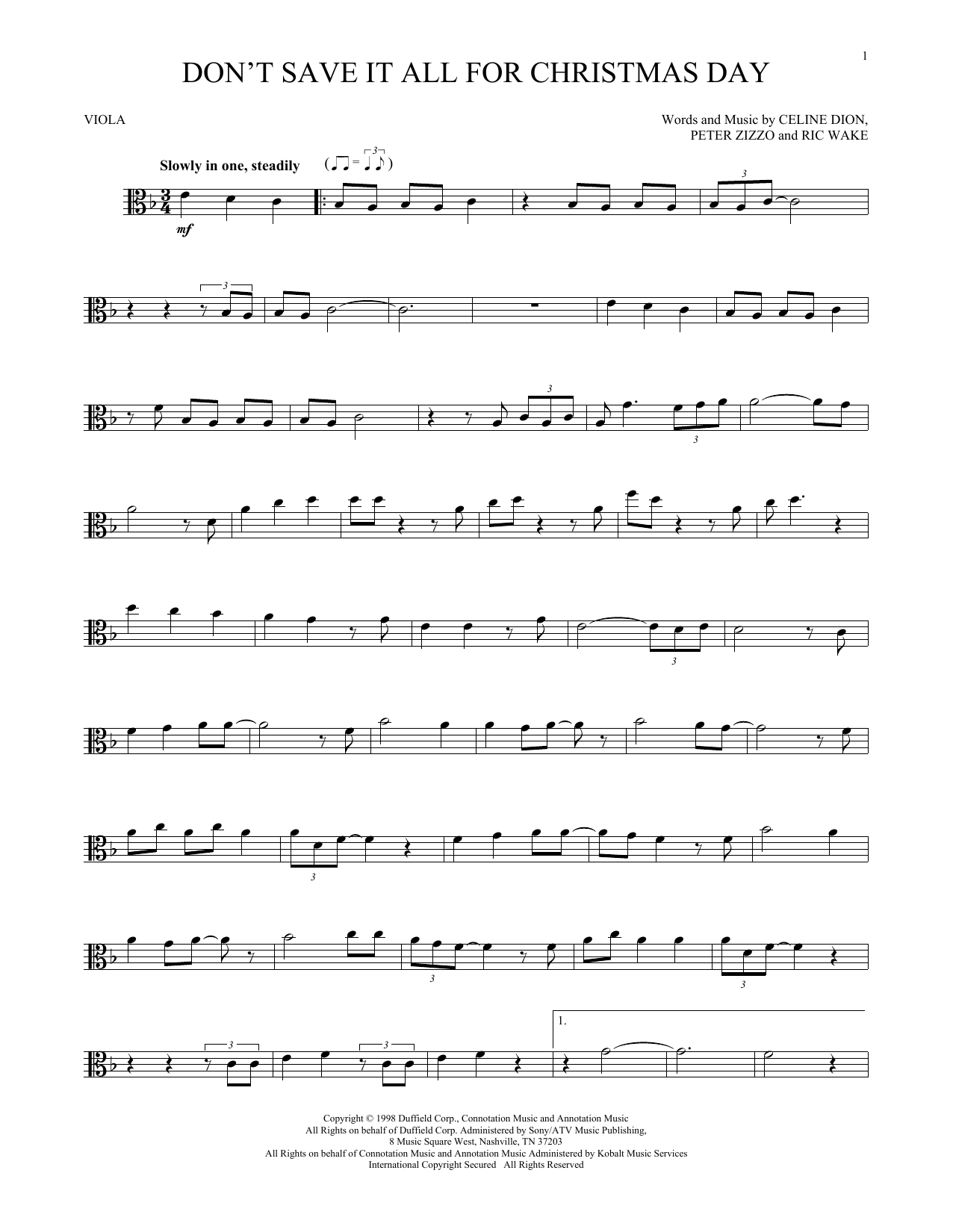 Don't Save It All For Christmas Day (Viola Solo)