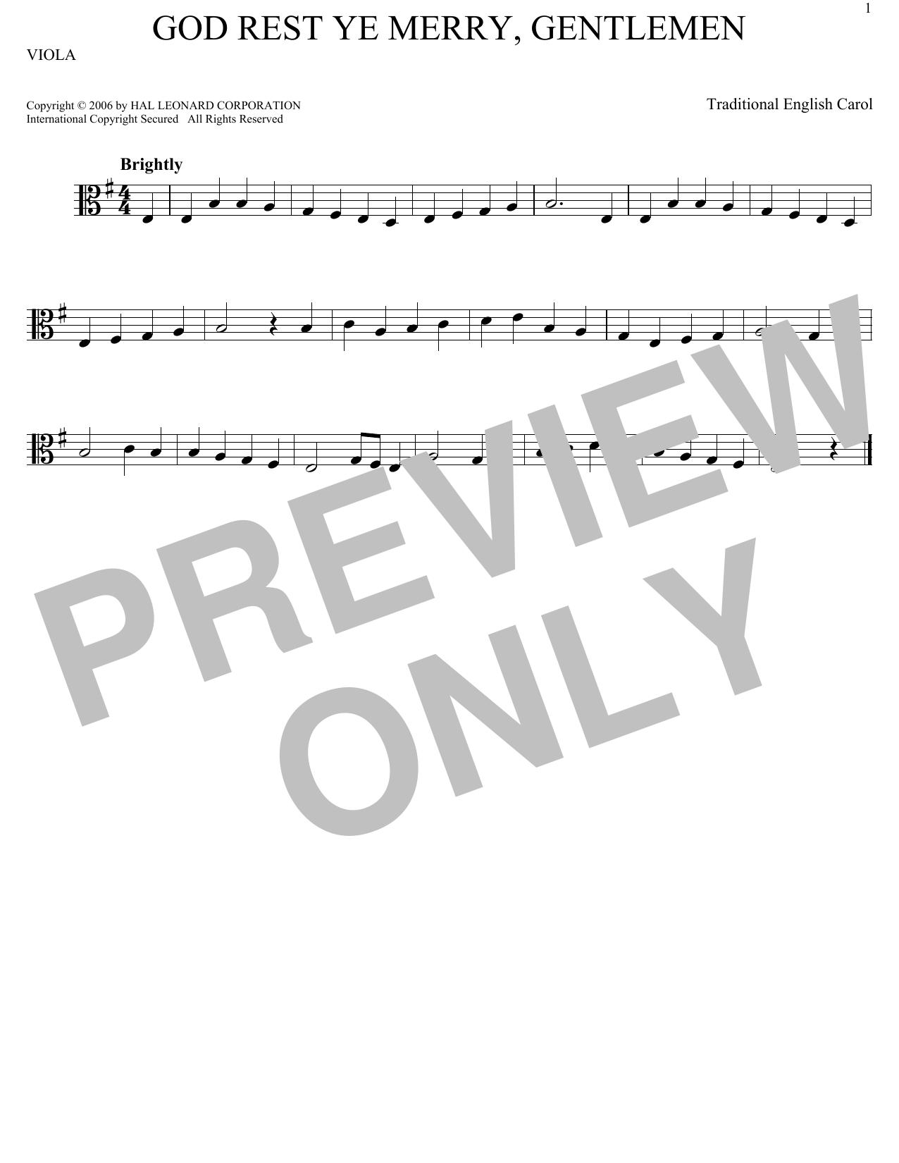 God Rest Ye Merry, Gentlemen (Viola Solo)