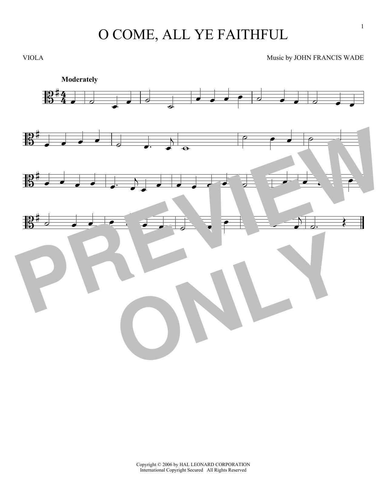 O Come, All Ye Faithful (Viola Solo)