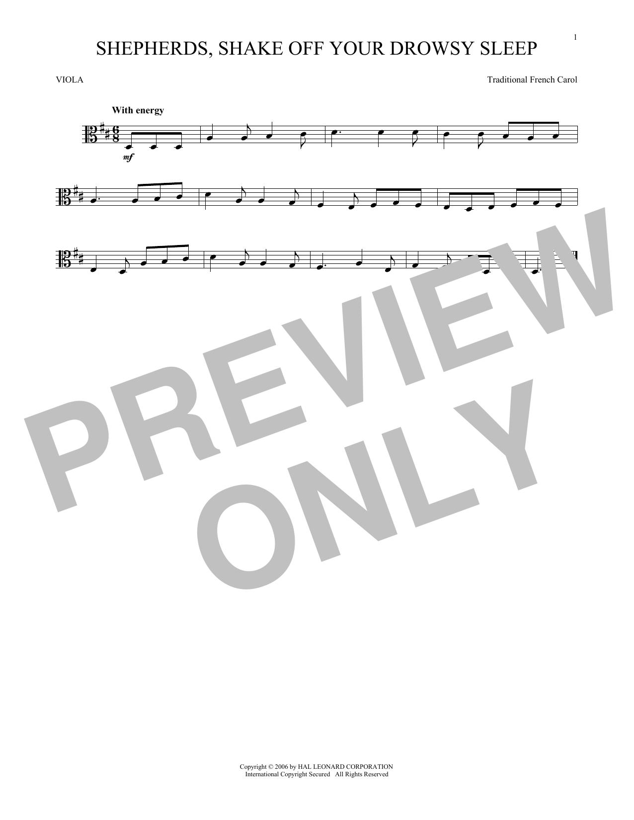 Shepherds, Shake Off Your Drowsy Sleep (Viola Solo)