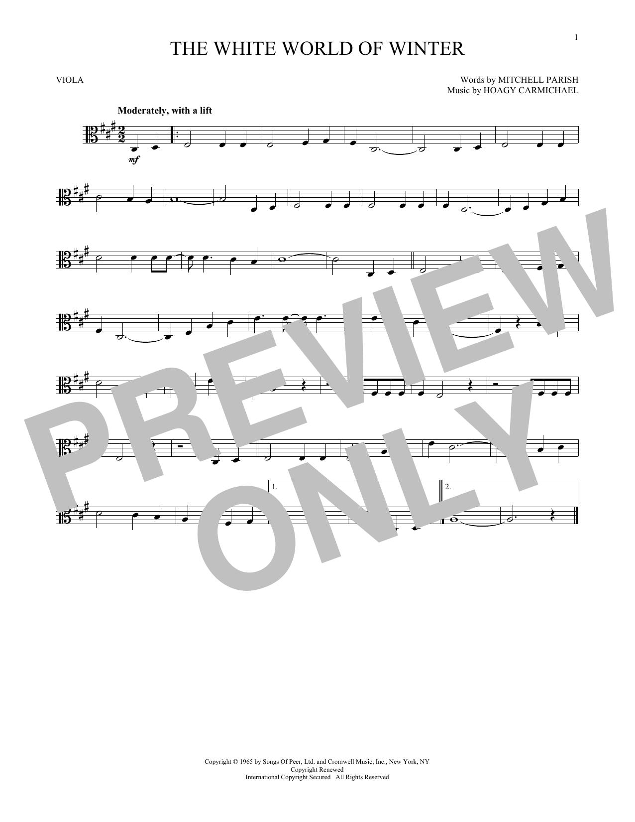 The White World Of Winter (Viola Solo)